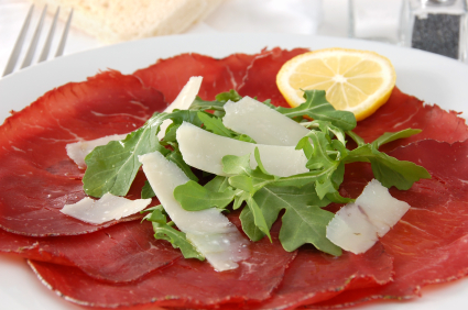 Tasty Bresaola with Lemon