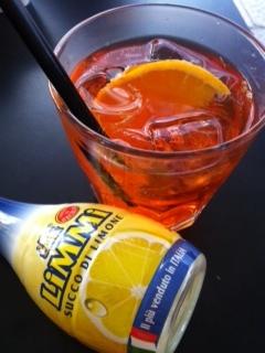 Spritz al limone e pompelmo