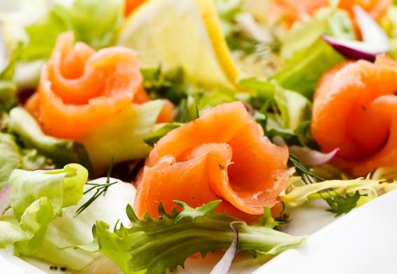 Insalata light con salmone