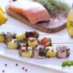Salmon and Pineapple Skewers