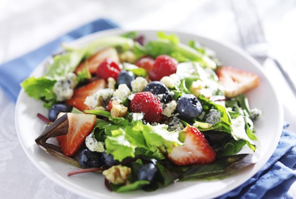 Fruit, Lettuce Hearts, Mild provolone and Lime Juice Salad