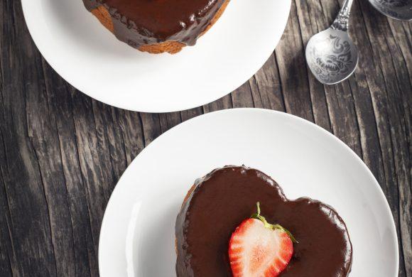 Heart-Shaped Chocolate and Lemon Pie