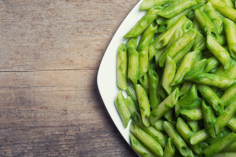 Penne with Asparagus and Lemon Pesto Sauce