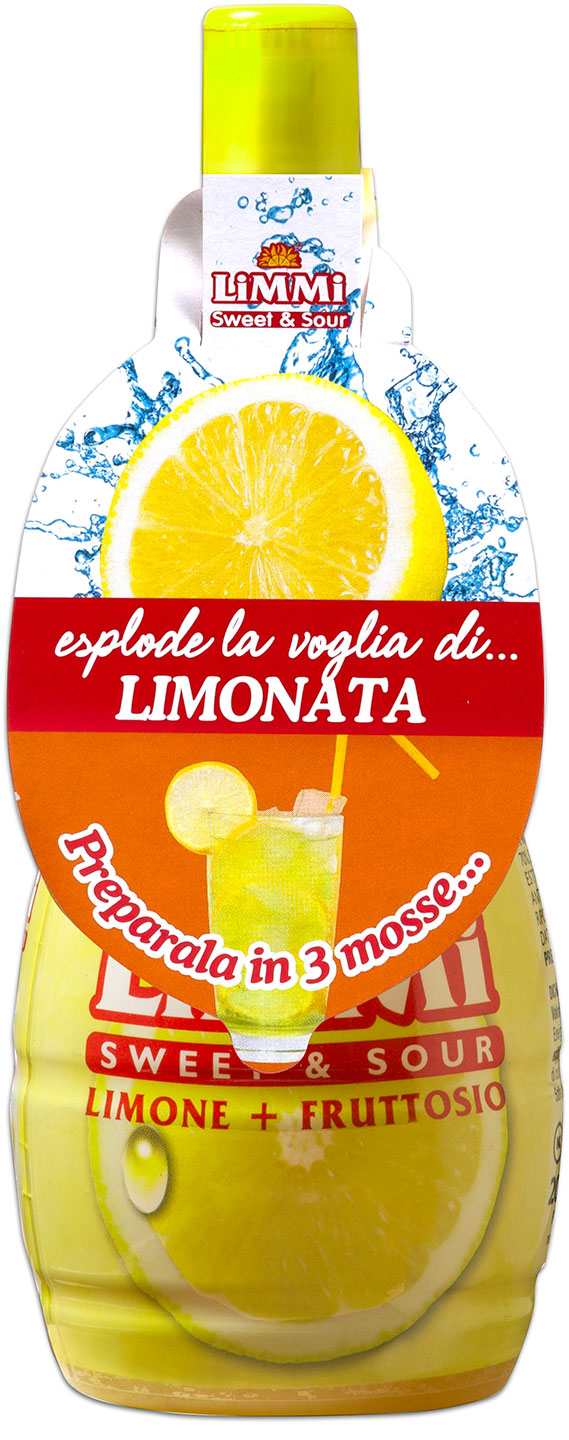 Limmi Sweet & Sour lemon juice bottle - Lemonade label