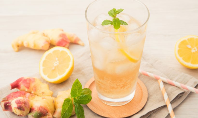 Lemon, Ginger and Mint Infusion in 3 Steps