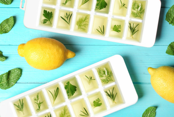 Lemon Ice Cubes